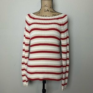 The Limited knit striped pullover sweater